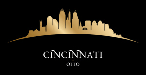 Cincinnati Ohio city silhouette